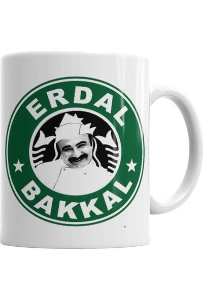 Baskı Dükkanı Çay Erdal Bakkalda İçilir Erdal Bakkal Kupa Bardak Porselen