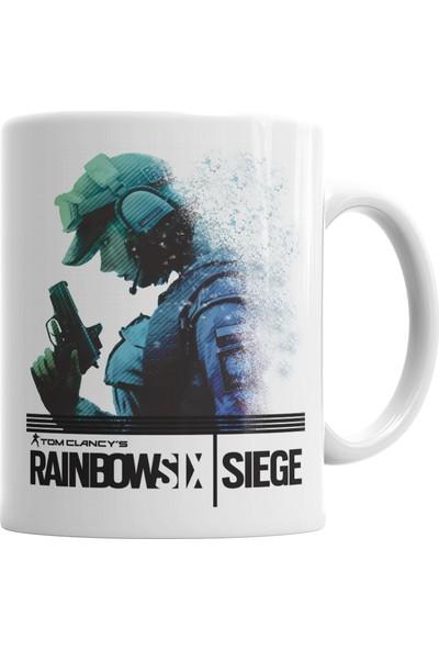 Baskı Dükkanı Ella Rainbow Six Siege Kupa Bardak Porselen