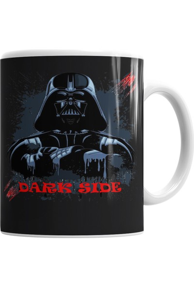 Baskı Dükkanı Darth Vader Kupa Bardak Porselen