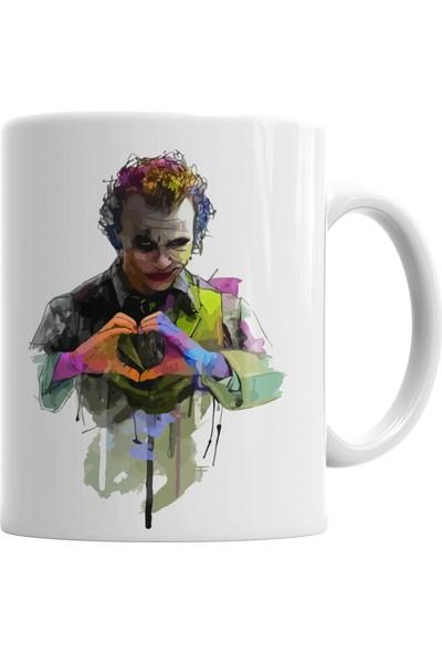 Baskı Dükkanı Coringa Heath Ledger Joker Kupa Bardak Porselen