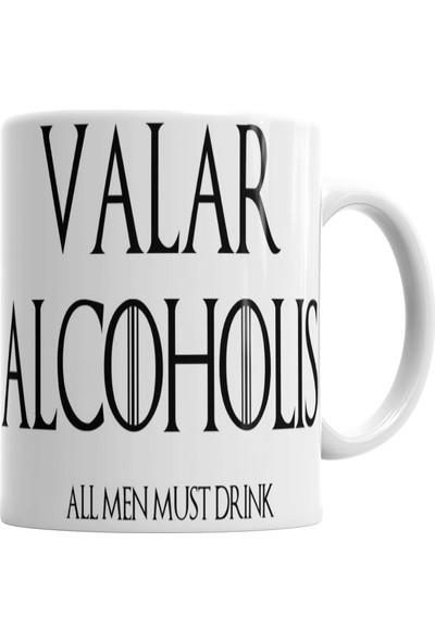 Baskı Dükkanı Valar Alcoholıs Kupa Bardak Porselen