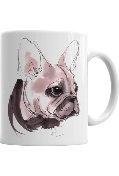 Baskı Dükkanı Fransız Bulldog Kupa Bardak Porselen
