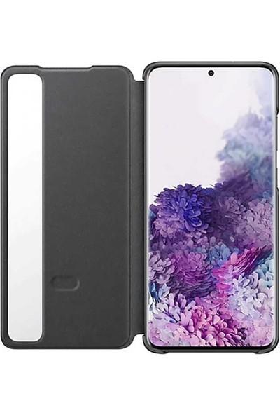 Teleplus Samsung Galaxy S20 Ultra Kılıf Akıllı Kapaklı Flip Cover Siyah