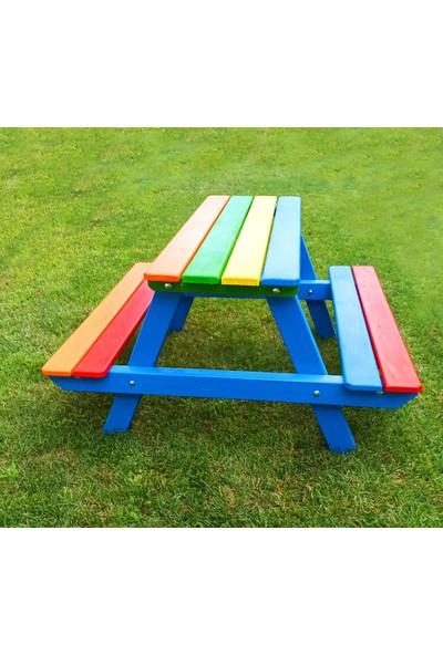 Cicibici Tahta Ahşap Çocuk Piknik Masası