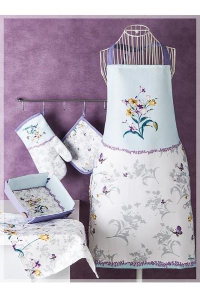 Noble Life Iris 5 Parça Tekstil Mutfak Seti