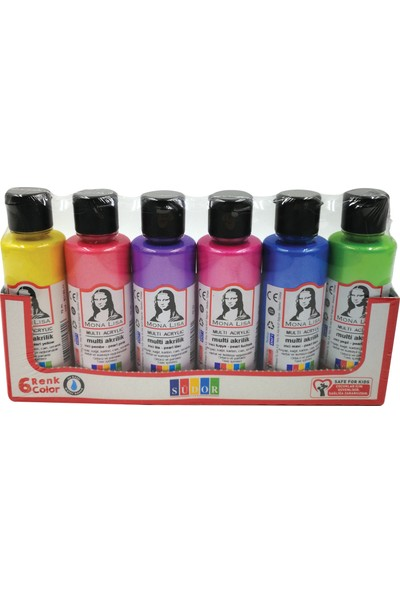 Mona Lisa Multi Akrilik İnci Set 70 ml 6'lı