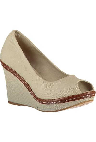 Fox Shoes Bej Kadın Dolgu 9674040305