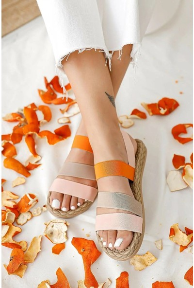 Fox Shoes Pudra/Ten Kadın Sandalet H306036104