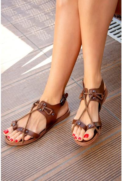 Fox Shoes Taba Kadın Sandalet H306412009