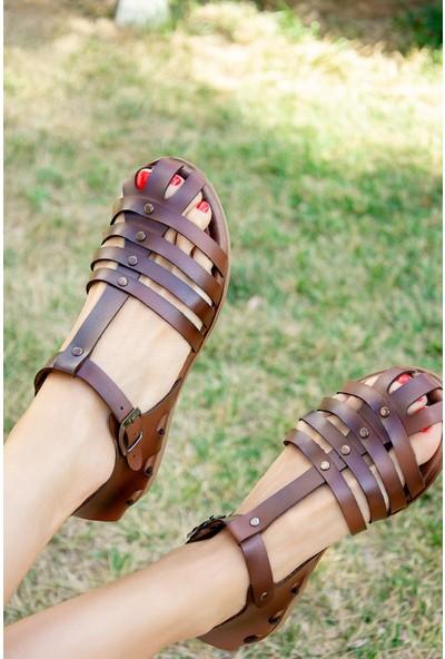 Fox Shoes Taba Kadın Sandalet H306422709