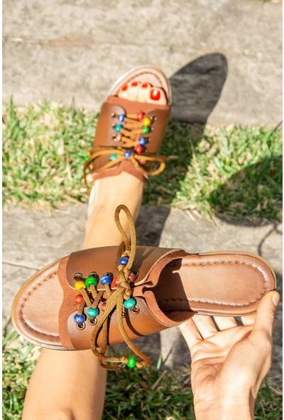Fox Shoes Taba Kadın Terlik H306432109