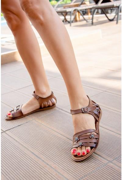 Fox Shoes Taba Kadın Sandalet H306448809