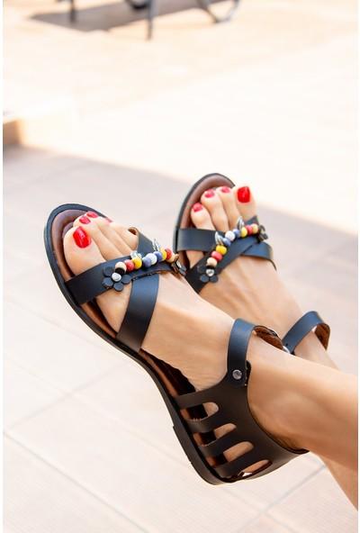 Fox Shoes Siyah Kadın Sandalet H306453309