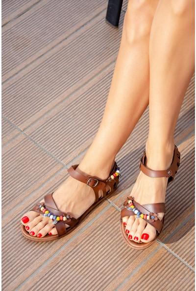 Fox Shoes Taba Kadın Sandalet H306453309