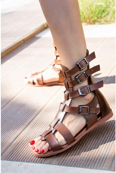 Fox Shoes Taba Kadın Sandalet H306945009