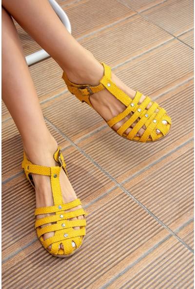 Fox Shoes Sarı Kadın Sandalet H306422717