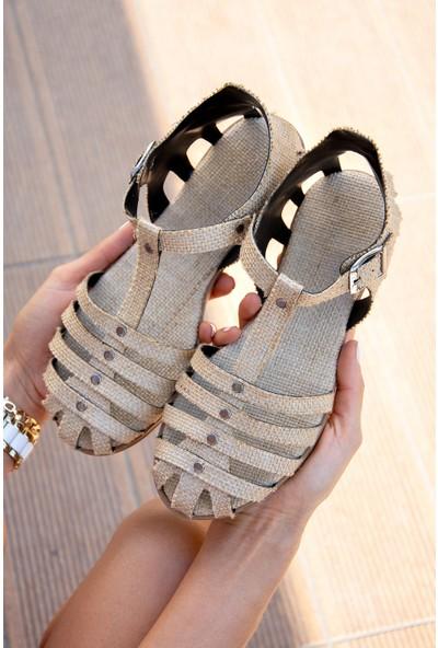 Fox Shoes Bej Kadın Sandalet H306422717
