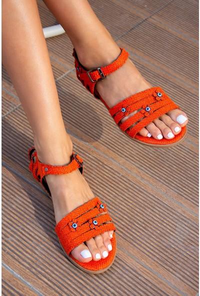 Fox Shoes Turuncu Kadın Sandalet H306448817