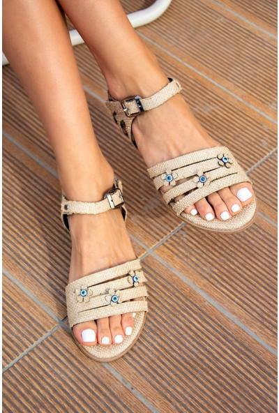 Fox Shoes Bej Kadın Sandalet H306448817