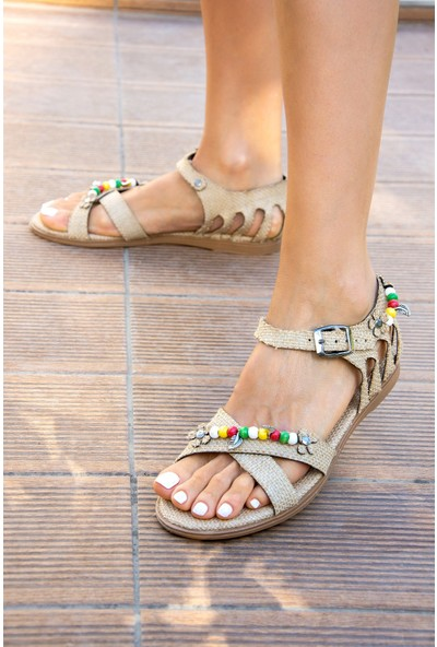 Fox Shoes Bej Kadın Sandalet H306453317