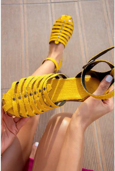 Fox Shoes Sarı Kadın Sandalet H306462217