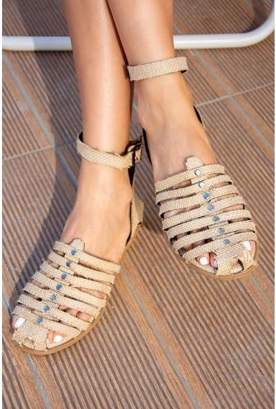 Fox Shoes Bej Kadın Sandalet H306462217