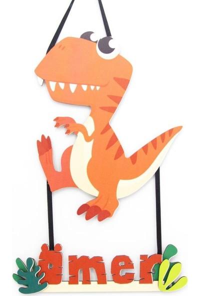 Meşgalem Kişiye Özel Bebek Kapı Süsü Dinozor