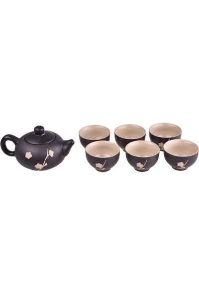 Bambum Taşev Fornia- 8 Parça Çay Sunum Seti Siyah