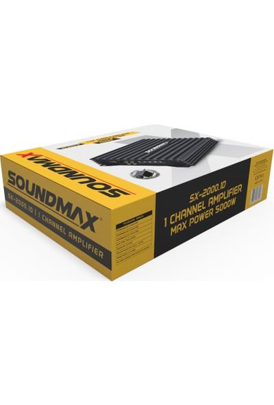 Soundmax SX-2000.1D 5000W-RMS 2000W Mono Anfi Bass Kumandalı