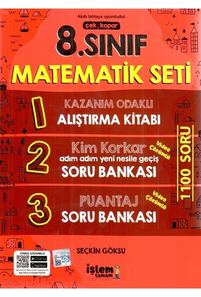 Işlem Tamam Yayınları 8. Sınıf Matematik Seti