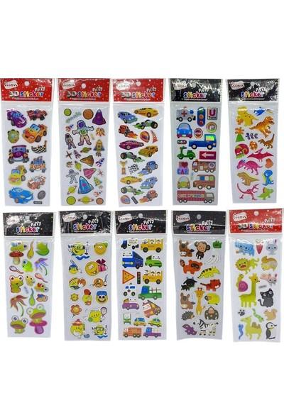 Ticon Puffy 3D Sticker 10'lu