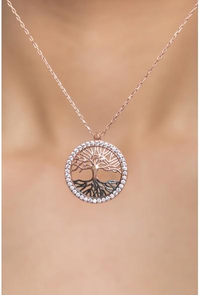 Elika Silver Kadın Hayat Ağacı Model 925 Ayar Gümüş Kolye