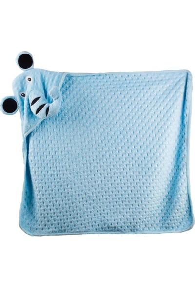 Babies Kapüşonlu Bebek Battaniyesi - Mavi