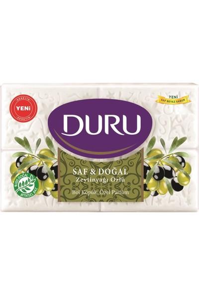 Duru Saf & Doğal Zeytinyağlı 4 Adet Beyaz Kalıp Sabun 600GR