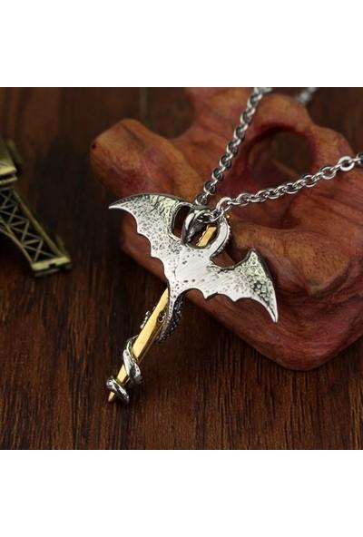 VipBT Thrones Pterosaur Kılıçlı Ejderha Kolye Fosforlu