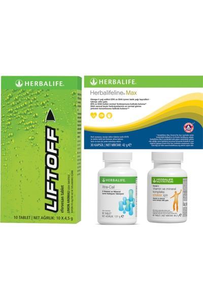Herbalife Vitamin Seti Mineral Kompleks+Xtra-Cal+Balık Yağı Omega 3+Liftoff Enerji Içeceği Erkek Vitamini