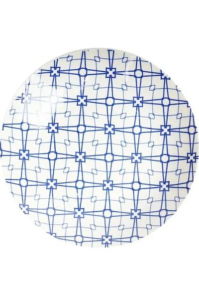 Tulu Porselen DS170 Mavi 6 Adet 24 cm Servis Tabağı Takımı