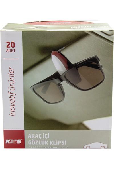 Kms Araba Içi Gözlük Tutucu 20 Adet