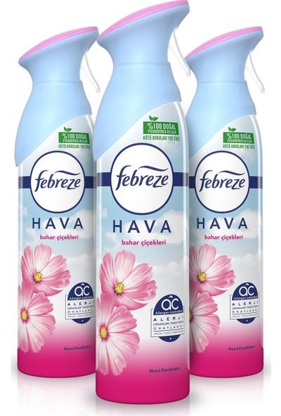 Febreze Hava Ferahlatıcı Sprey Oda Kokusu Bahar Çiçekleri 300 ml 3 Al 2 Öde