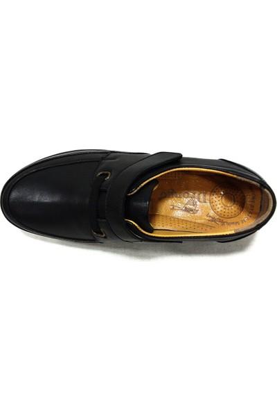 Drongo 171 Siyah Deri Anatomik Comfort Kadın Ayakkabı