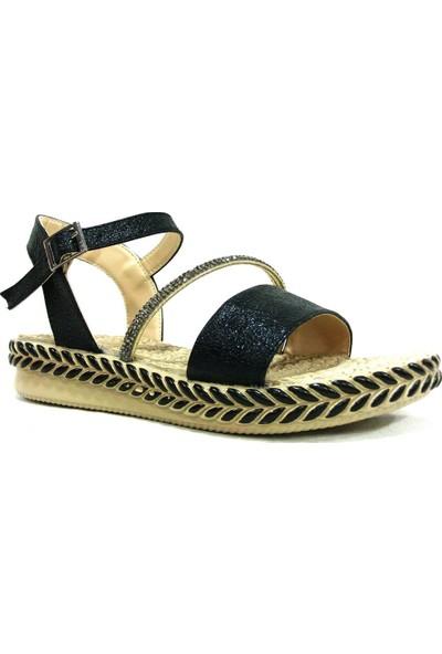 Shoepi 23234 Siyah Bej Anatomik Kadın Sandalet