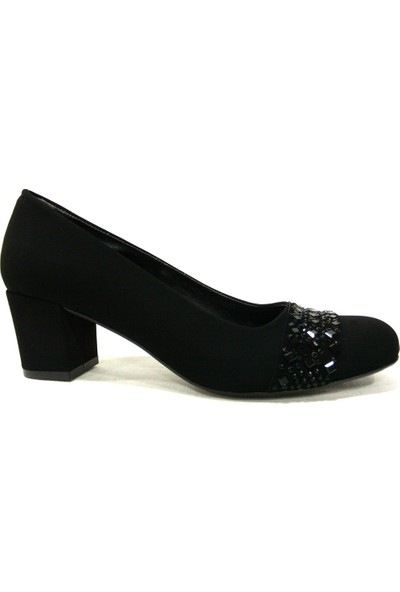 Şener 730 Siyah Topuklu Kadın Ayakkabı