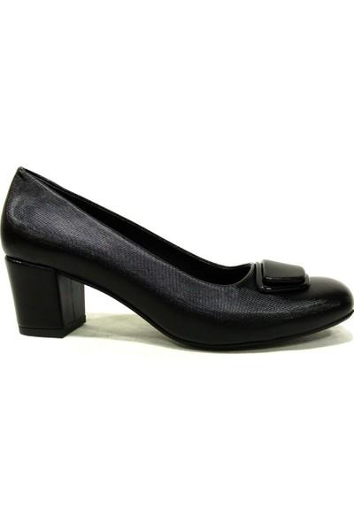 Şener 920 Siyah Topuklu Kadın Ayakkabı