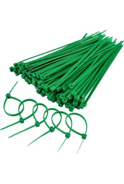 Gwest Yeşil Kablo Bağı Plastik Cırt Kelepçe 3.6X150Mm 100 Adet Yeşil 3.6X150 Mm