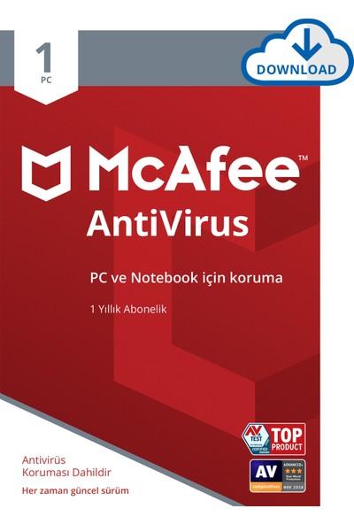 McAfee AntiVirus 1 Cihaz Windows