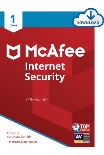 McAfee Internet Security 01 Cihaz Windows, MacOS, iOS ve Android