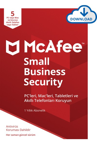 McAfee Small Business Security 05 Cihaz Windows&MacOS (Sınırsız mobil iOS ve Android)