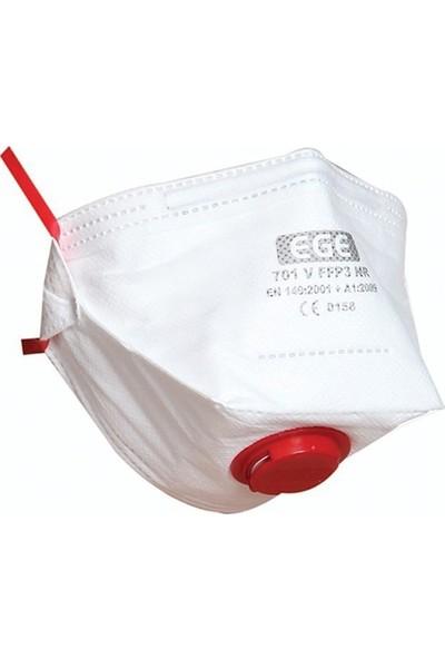 Ege 701 Ffp3 Nr D Ventilli Katlanır Toz Maskesi