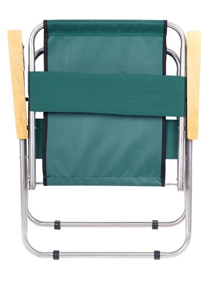Hastunc Ahşap Kolçaklı Kamp Plaj Sandalyesi