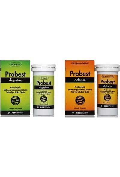 Probest Digestive + Probest Defence Probiyotik Kapsül 2'li Set